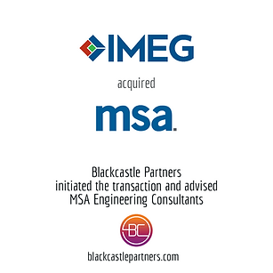 Blackcastle Partners Deal Announcement: MSA Engineering Consultants was acquired by IMEG Corp.