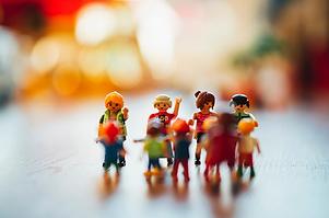 Eine Familie aus Legofiguren