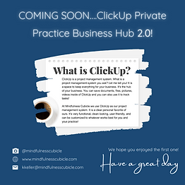ClickUp Business Hub 2.0 First Teaser Po