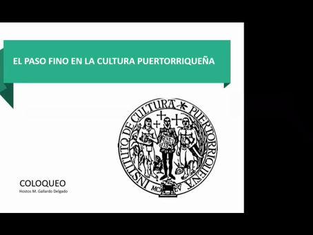 CONFERENCIA MAGISTRAL PASO FINO EN LA HISTORIA DE PUERTO RICO