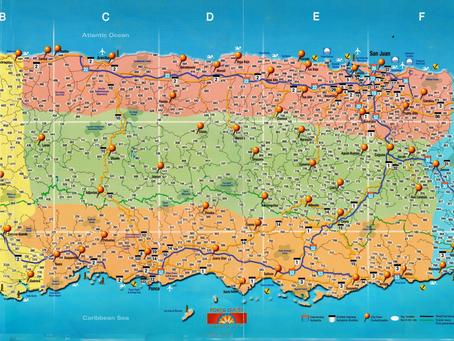 MAPA DE PUERTO RICO/CARRETERAS