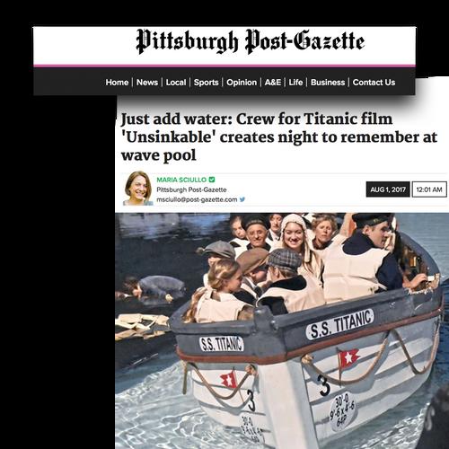 unsinkable post gazette news clip.png