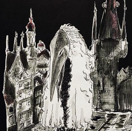 ''Ptak above Prague #1''