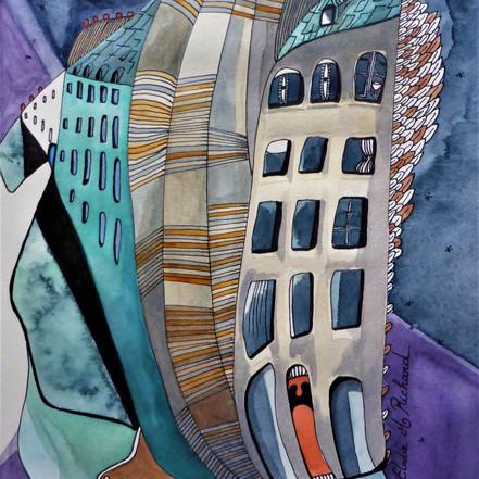 ''Rue du Dragon from my Window, Paris'' (2017)