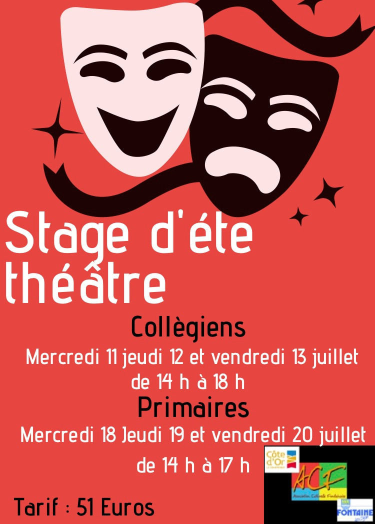 Stage d'été pour le théâtre