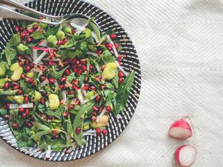 Pomegranate, Broad Bean & Radish Salad