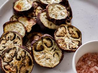 Roasted Eggplant Chips with Sea Salt