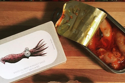 Spiced Calamari in Ragout Sauce