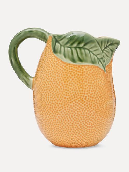 Orange Earthenware Pitcher