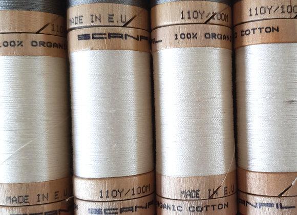 Bobine fil coton BIO Blanc