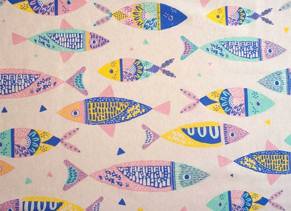 Popeline de coton - Les petits poissons
