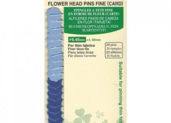 Clover Épingles à Tête de Fleur Extra-Fines 0,45x50mm - 20 pces