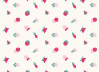 Popeline de coton Arty Geometric