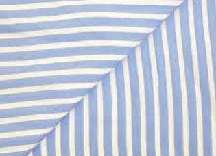 Viscose rayée bleu et blanc