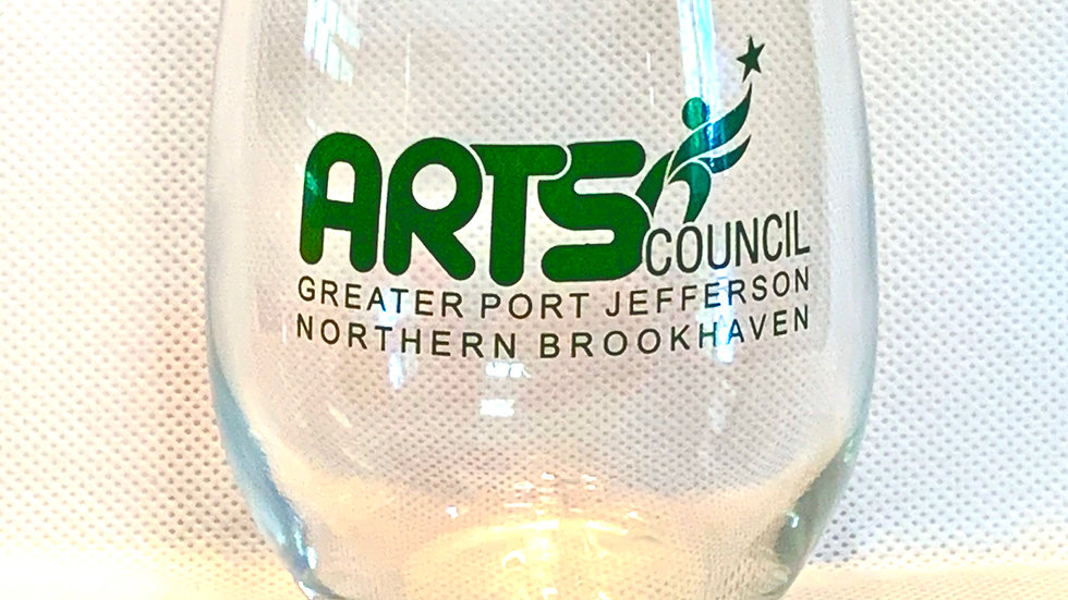 Arts Council Stemless Wine Glass