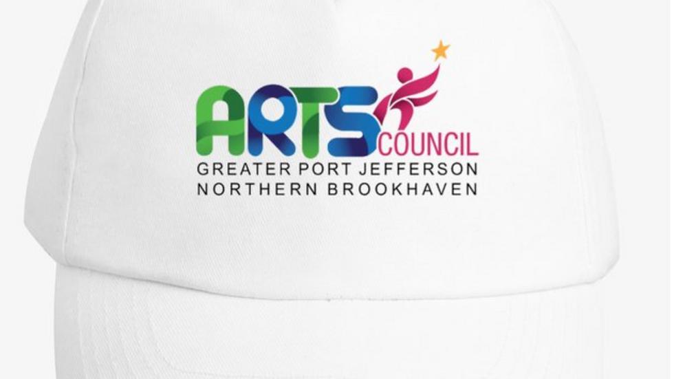 White Printed Logo Hats