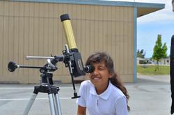 Observing the sun with Alianza Charter School in Watsonville, Ca.