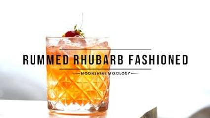 Still Fired Rummed Rhubarb Fashioned