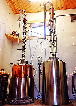 Our hand made stills Kirby and Morgan