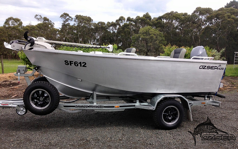 Ozsea Plate Boats, Plate aluminium boat builder, Aluminium boats | tiller