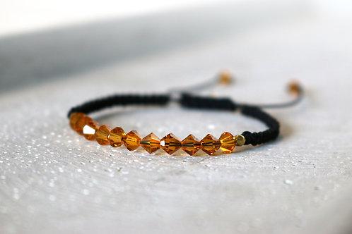 Armband mit orangen Swarovski Elementen