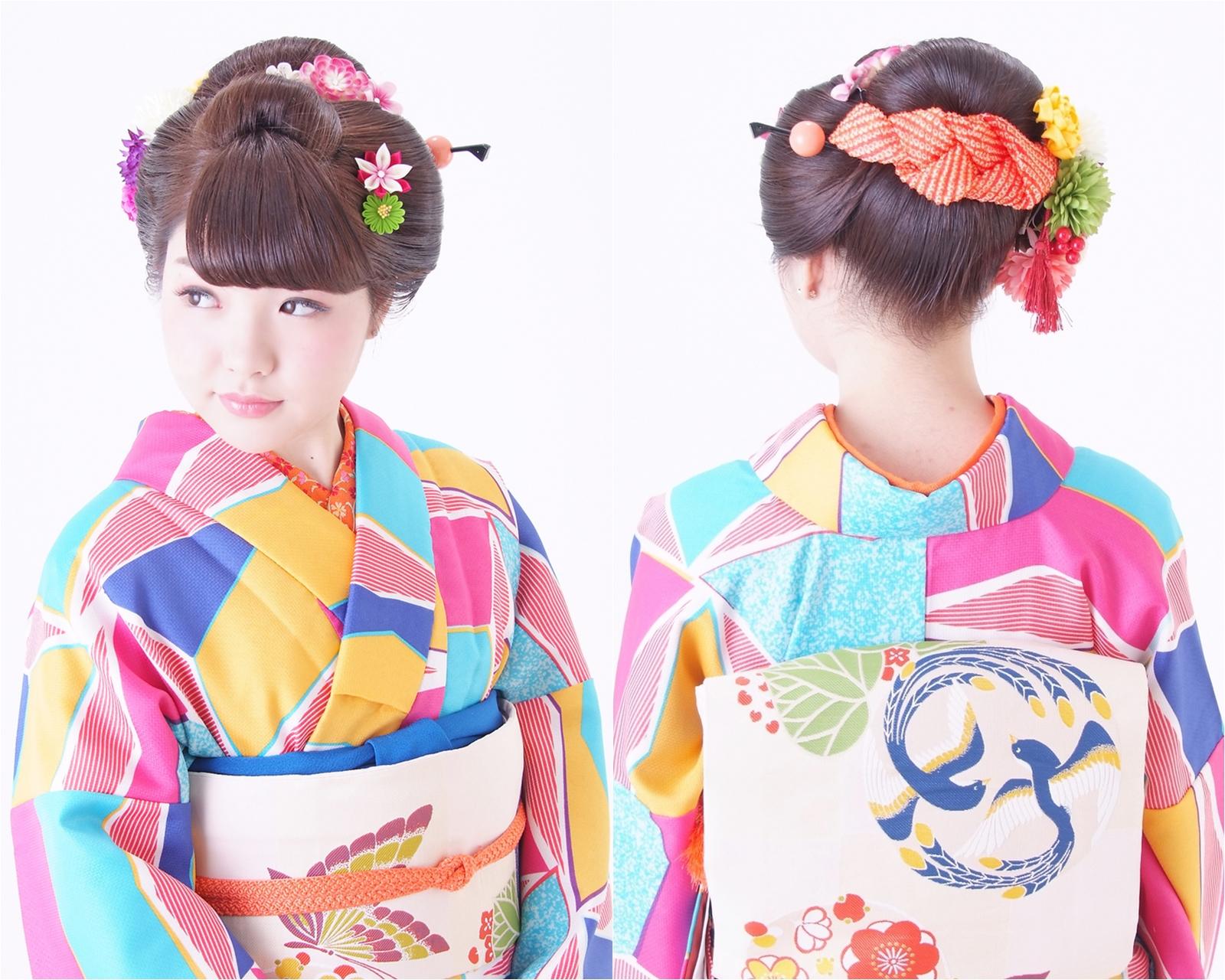 前髪をおろした可愛らしい日本髪