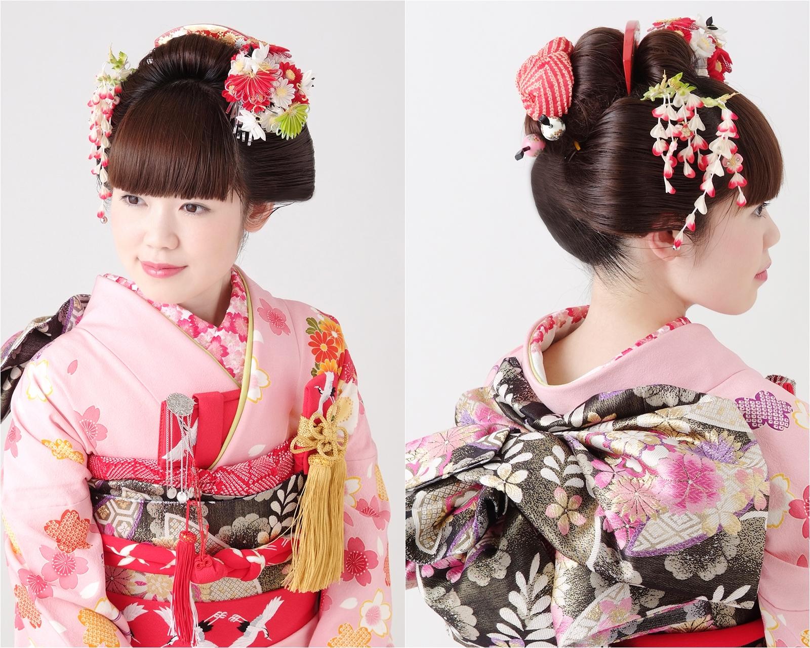 花嫁の引き振袖で可愛く慎ましやか日本髪風