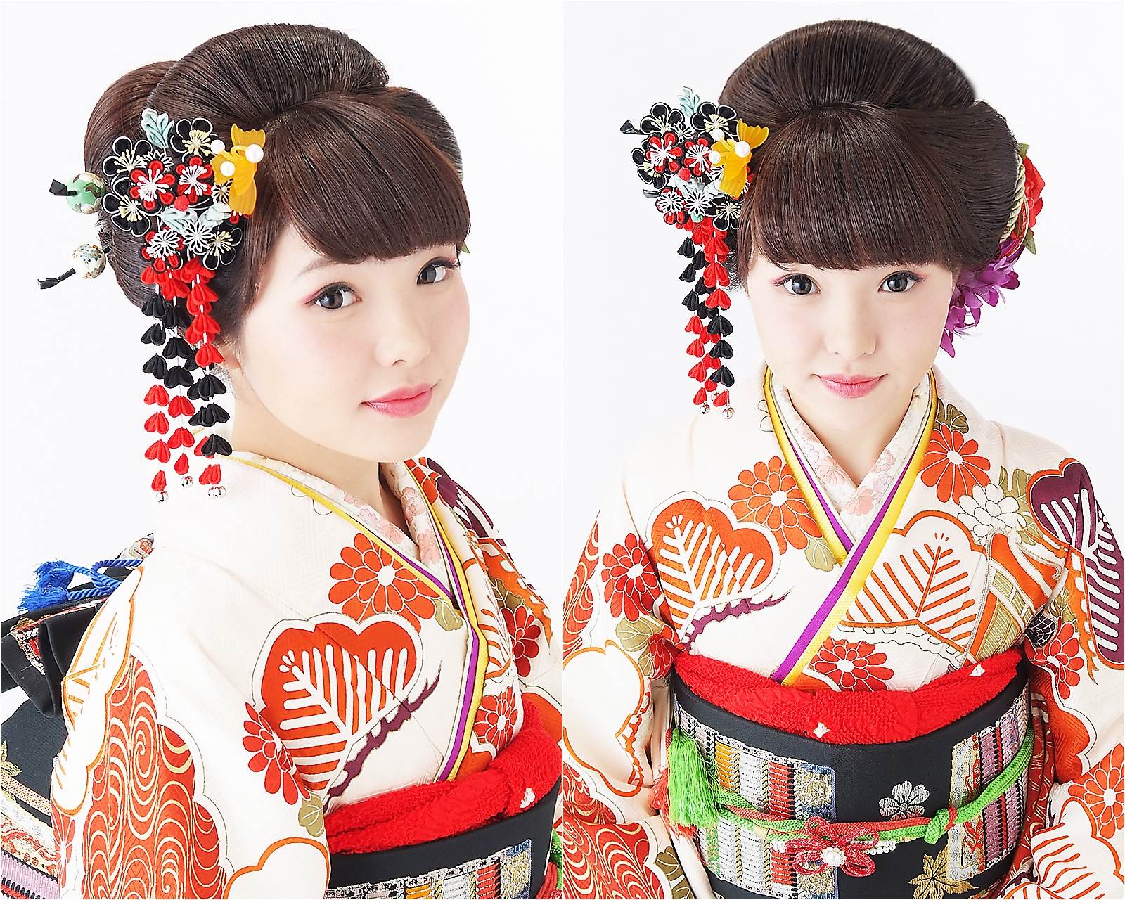 振袖ヘアの日本髪風アップスタイル