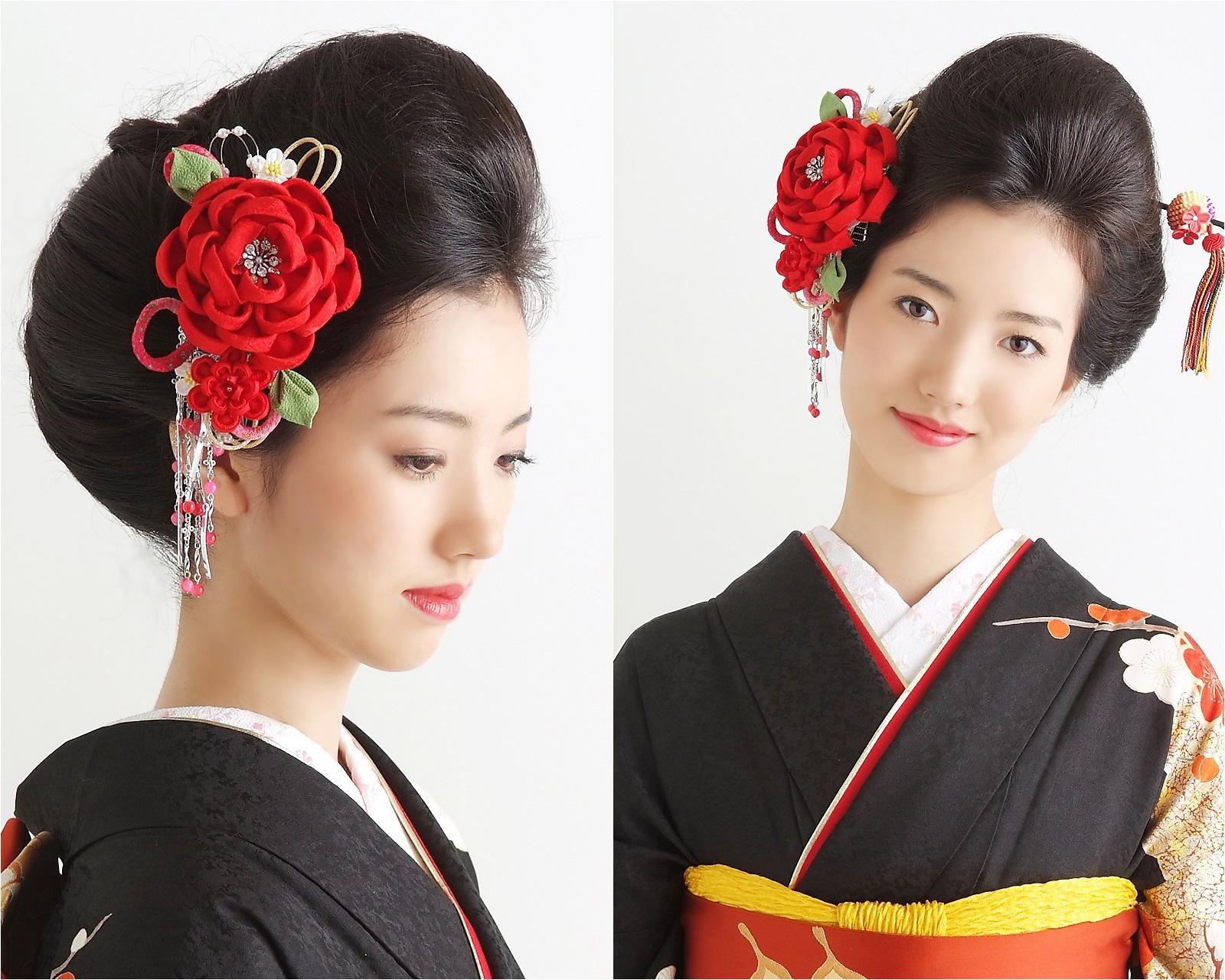 成人式の振袖ヘアに大正モダンなしっとり日本髪
