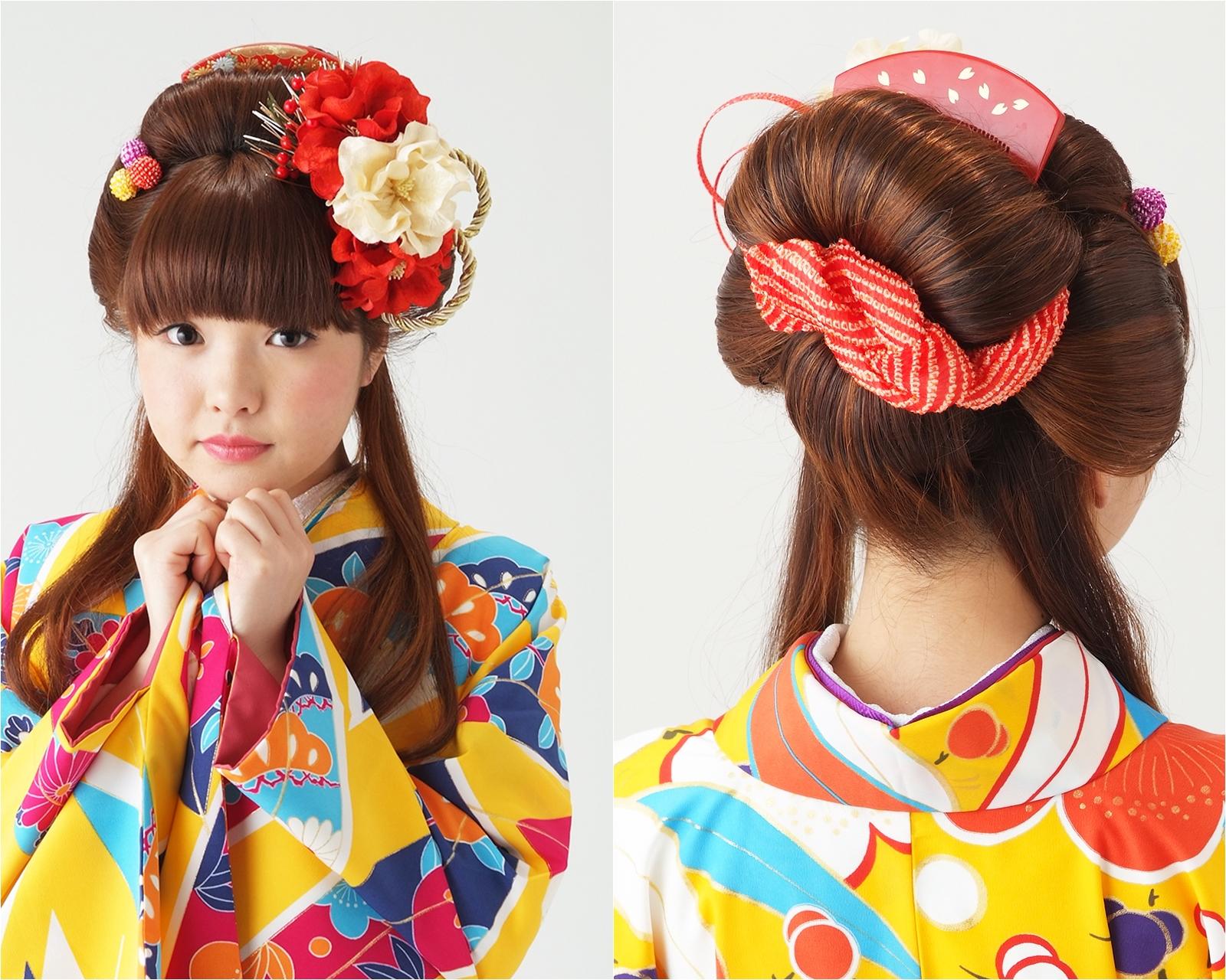 【袴ヘア】キュートに日本髪☆あんみつ姫スタイル
