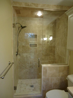 Glass Shower Doors - Open Space Above Door for Ventilation