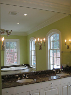 Glass - Large Mirror with Cutouts for Light Fixtures