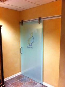 Commercial Glass - 1_2_ Frameless Slidng All Glass Office Door