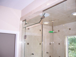Glass Shower Doors - Operable Flip Transom