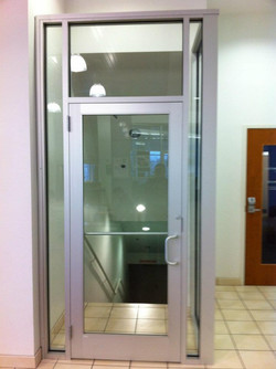 Commercial Glass - Interior Commercial Door w_Sidelites, Transom and Return Panel