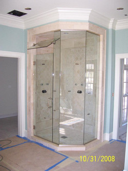 Glass Shower Doors - Large Flip Transom