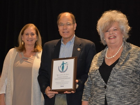 """PRESS RELEASE: KCADV & KASAP present Rep. Graviss with 2019's """"Champion of Justice"""" Award"""