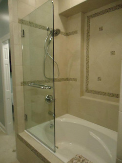 Glass Shower Door - Frameless Operable Tub Door