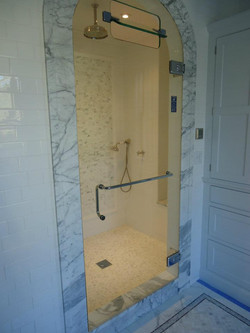 Glass Shower Doors - Frameless Steam_Shower Door with Internal Steam Vent