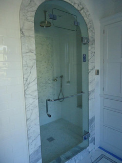 Glass Shower Doors - arch top Steam_Shower Door w_ Internal Transom