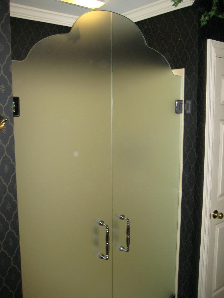 Glass Shower Doors - Custom French Style Shower Doors