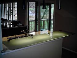 Glass - Heavy Glass Kitchen Countertop