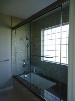Glass Shower Doors - Heavy Sliding Doors With Inline Panels