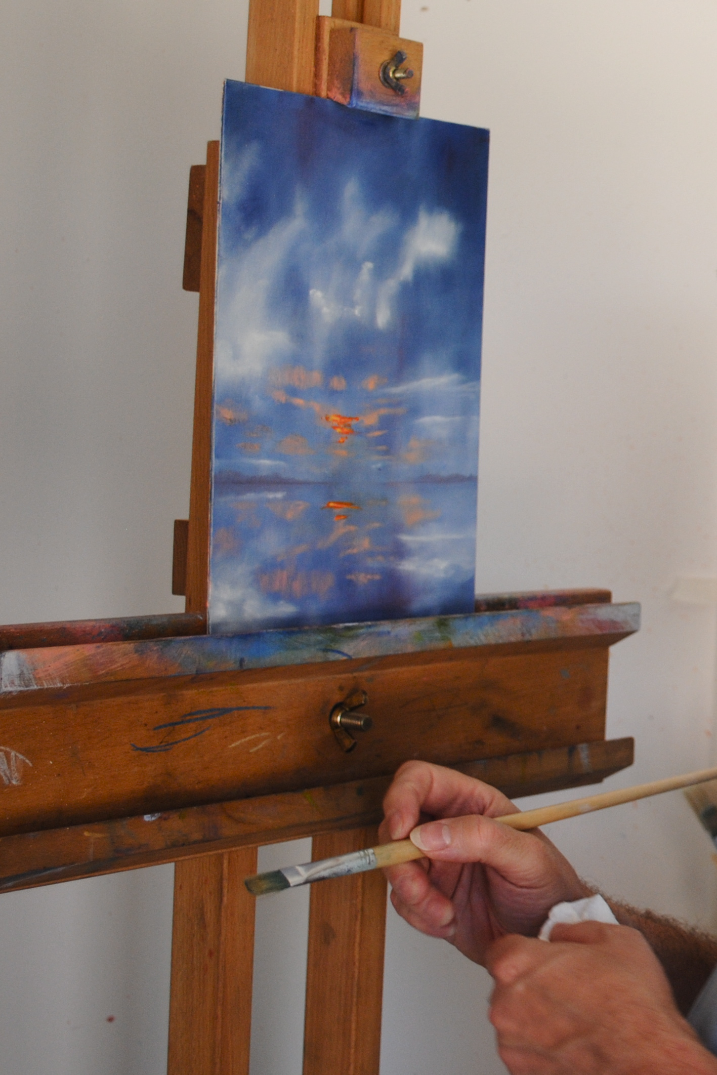 Painting with Ernie Butler