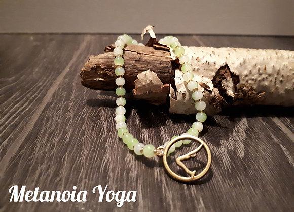 Bracelet perlé Adho Mukha Svanasana cuivré