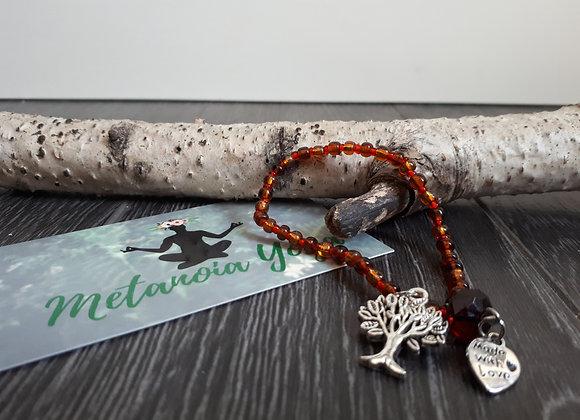 Bracelet perlé automne et arbre de vie