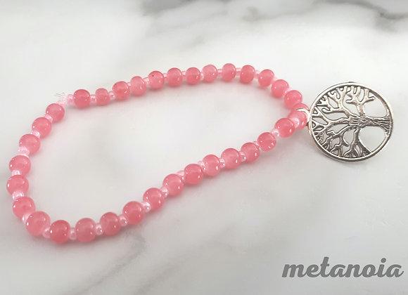Bracelet perlé Arbre de vie