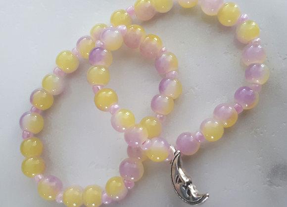 Bracelet perlé lunaire