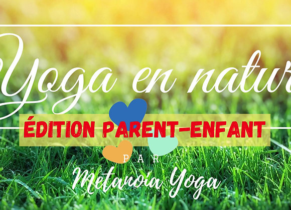 Cours de Yoga en Nature Parent-Enfant (1 parent + 1 enfant)