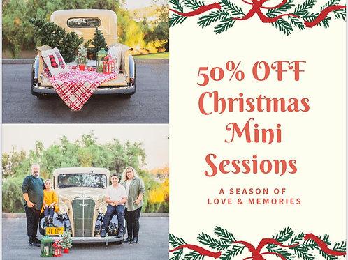 Christmas Classic Truck Mini Session $30 Deposit